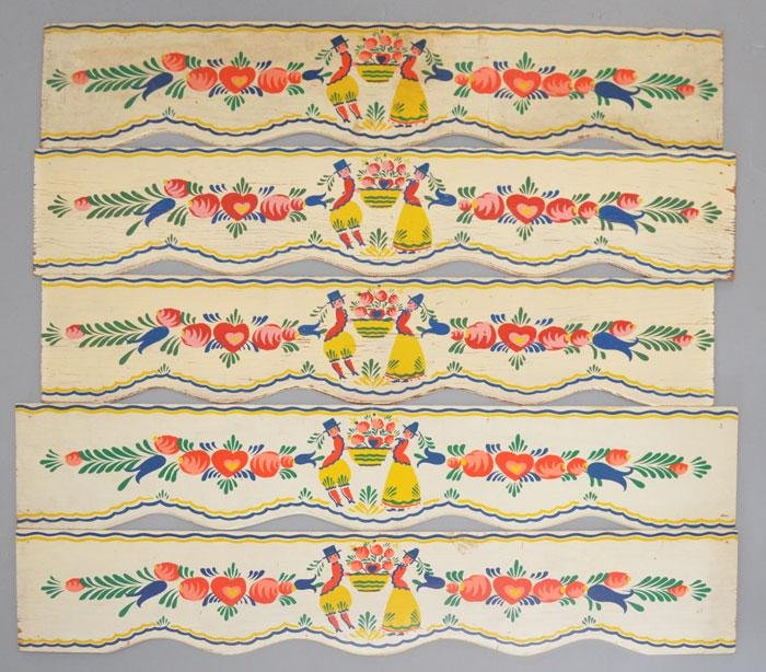 Hand Painted Renowned Artist Peter Hunt Valances
