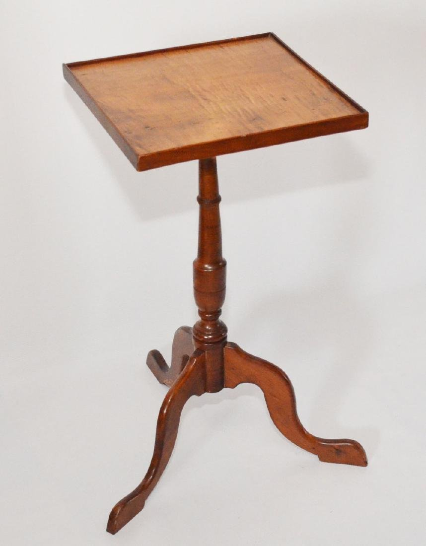 Elegant & Simple 19th C. Tiger Maple Candle Stand