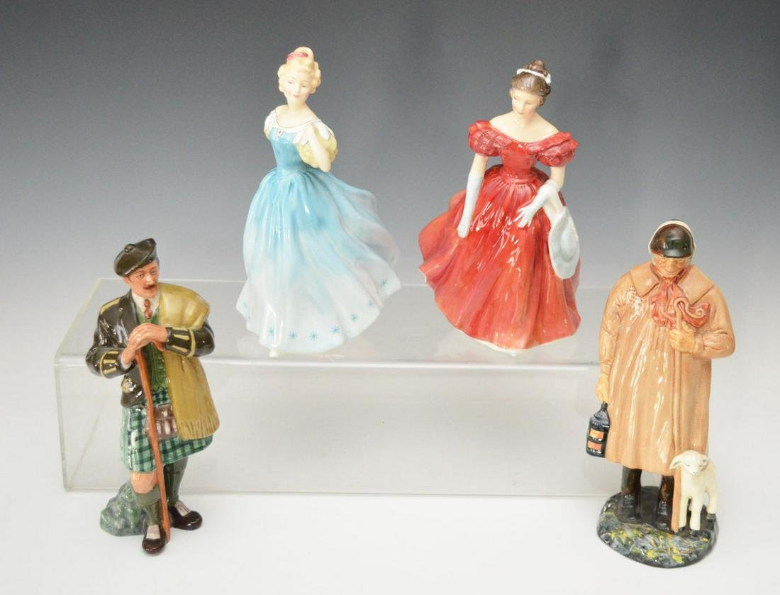 Grouping of 4 Royal Doulton Figurines