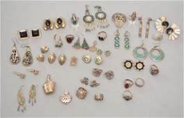 Lot of Vintage Sterling Silver Earrings