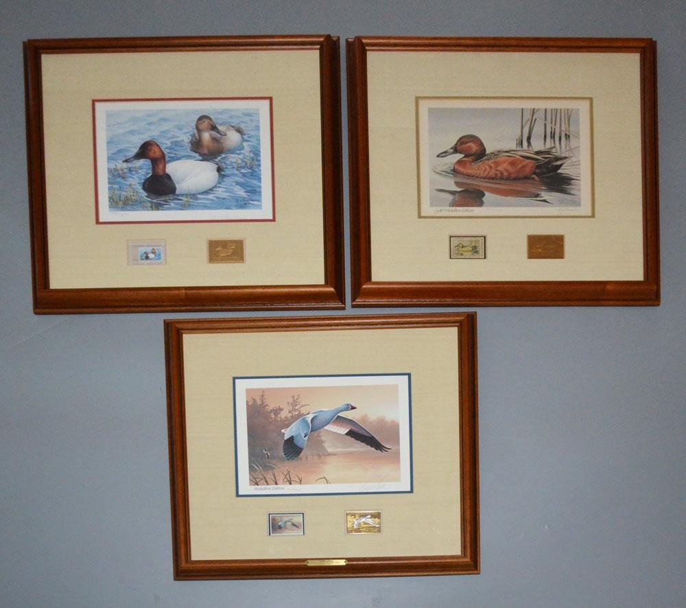 Signed Medallion Ed Duck Stamp Prints