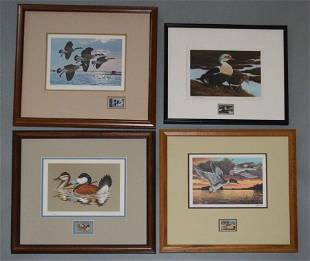 3 Signed Numbered Duck Prints