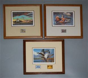 3 Signed Numbered Duck Prints USSR Federal