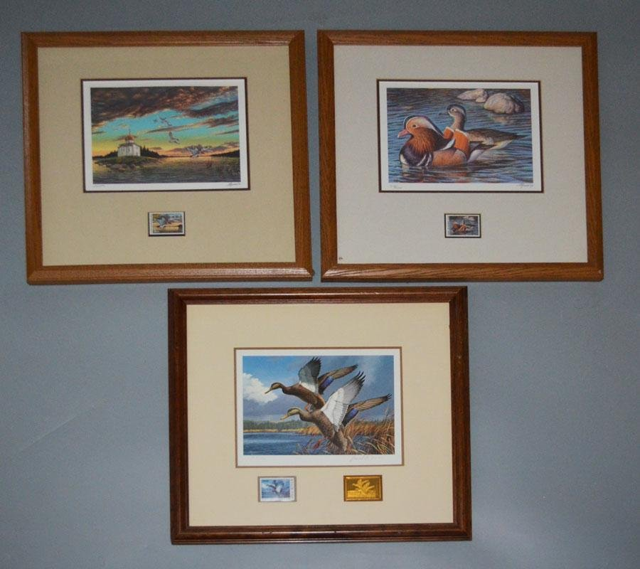 3 Signed & Numbered Duck Prints (USSR, Federal)