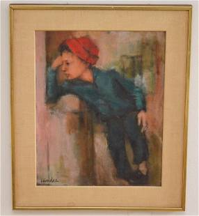 Hindes Painting of a Pensive Man