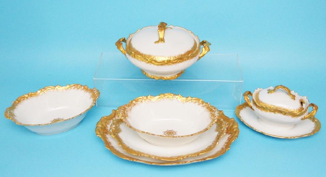 Great Lot of T.V Limoges Gold Encrusted Serving Pcs