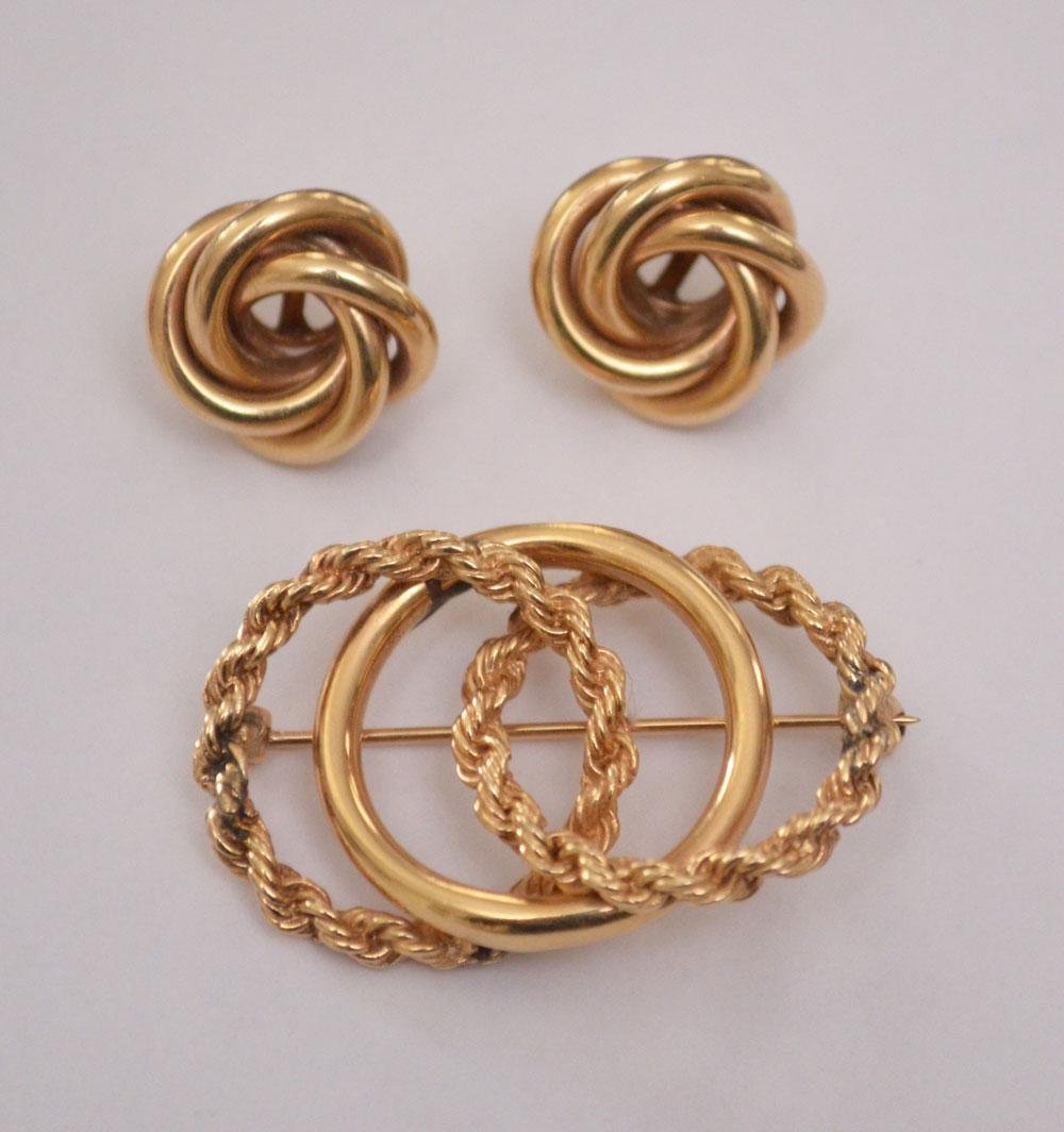 Lot of 14k Gold Lover's Knot Jewelry