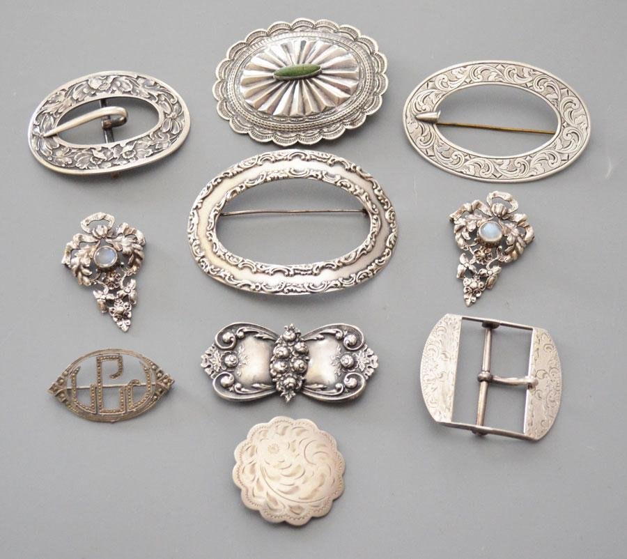 Sterling Silver Buckles & Pins