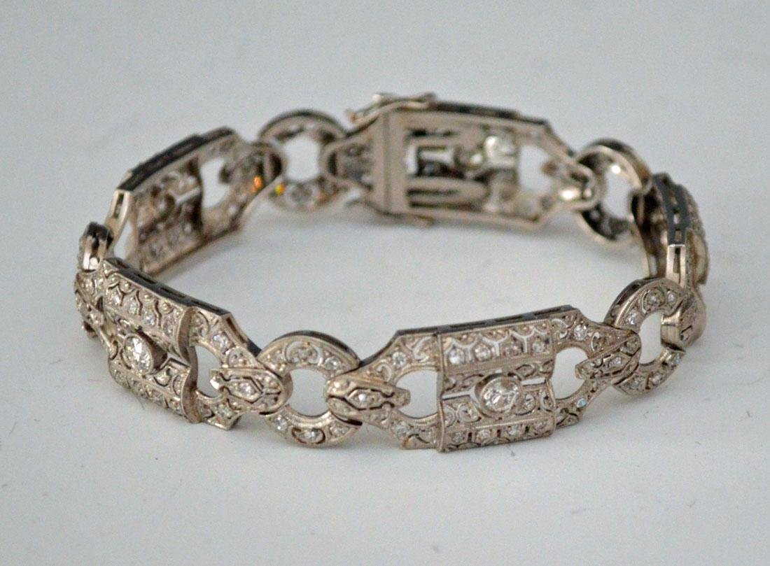 Art Deco Platinum & 2ct Diamond Bracelet
