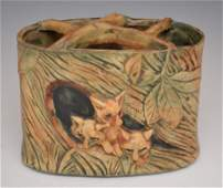Weller Woodcraft Vase with Foxes