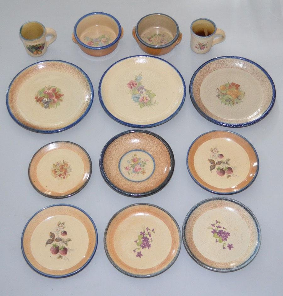 Collection of Monroe Saltworks Pottery