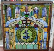 Pair of Mesmerizing Estate  Stained Glass Windows