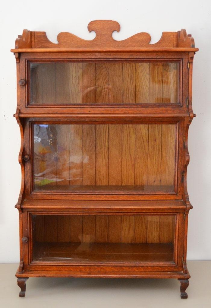 Unique 3 Tier Oak Cabinet