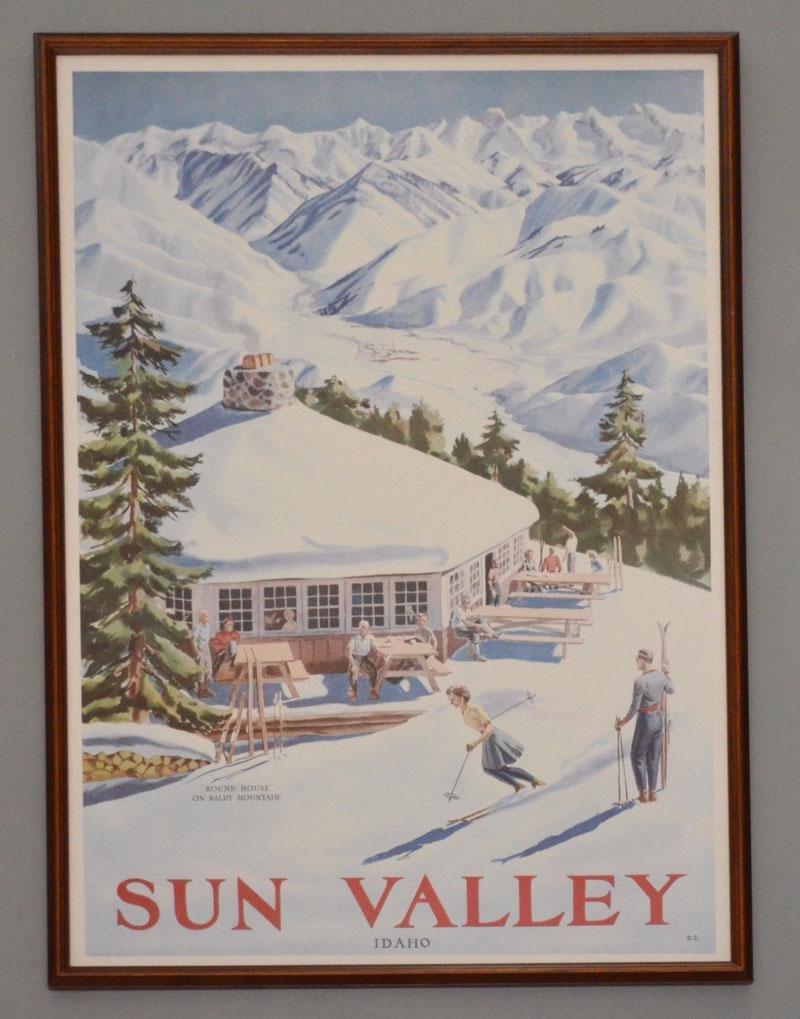 Decorative Sun Valley Idaho Ski Poster