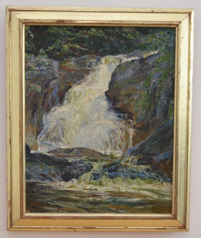 O/C Painting of Kent Falls by George Laurence Nelson