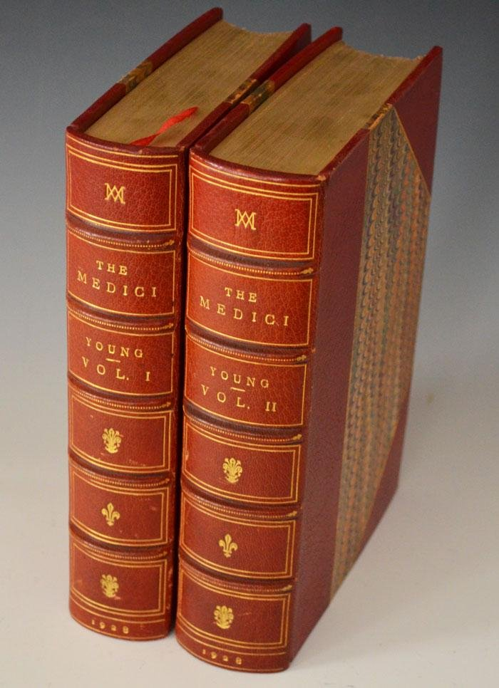 The Medici  Beautiful Leather Bound Vol 1 & 2 1928