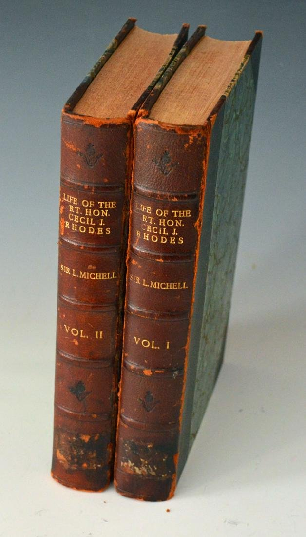 Life Of The Honourable Cecil J. Rhodes 1910 ( Rare)