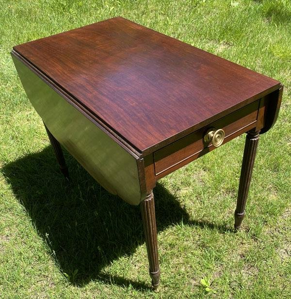 Attrb George Woodruff Pembroke Mahogany Table