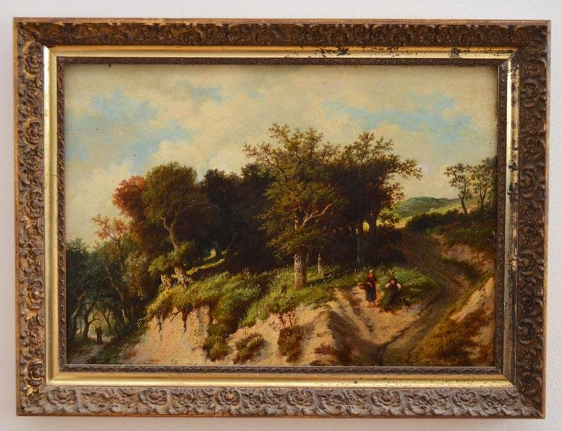 Illegibly Signed Very Well Done O/p Barbizon Painting