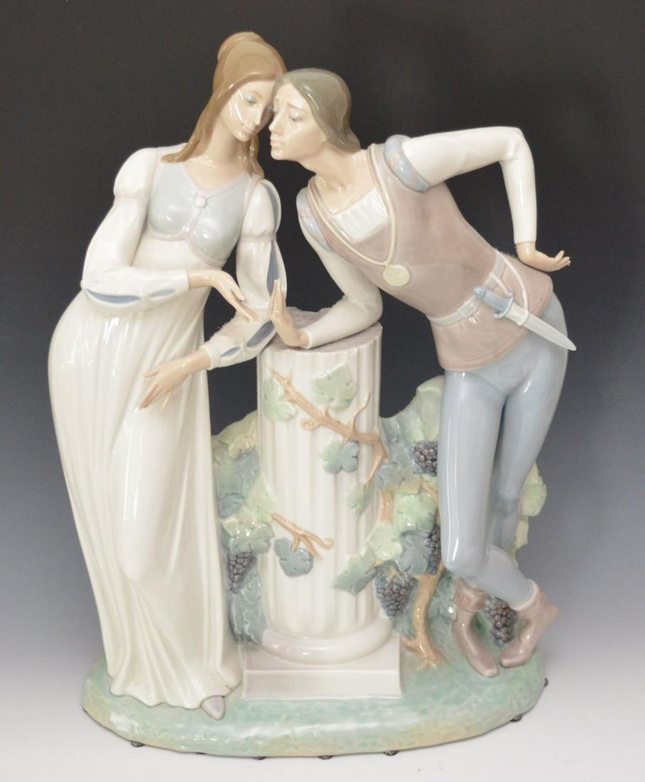 Large lladro Porcelain Romeo & Juliet Figural Group