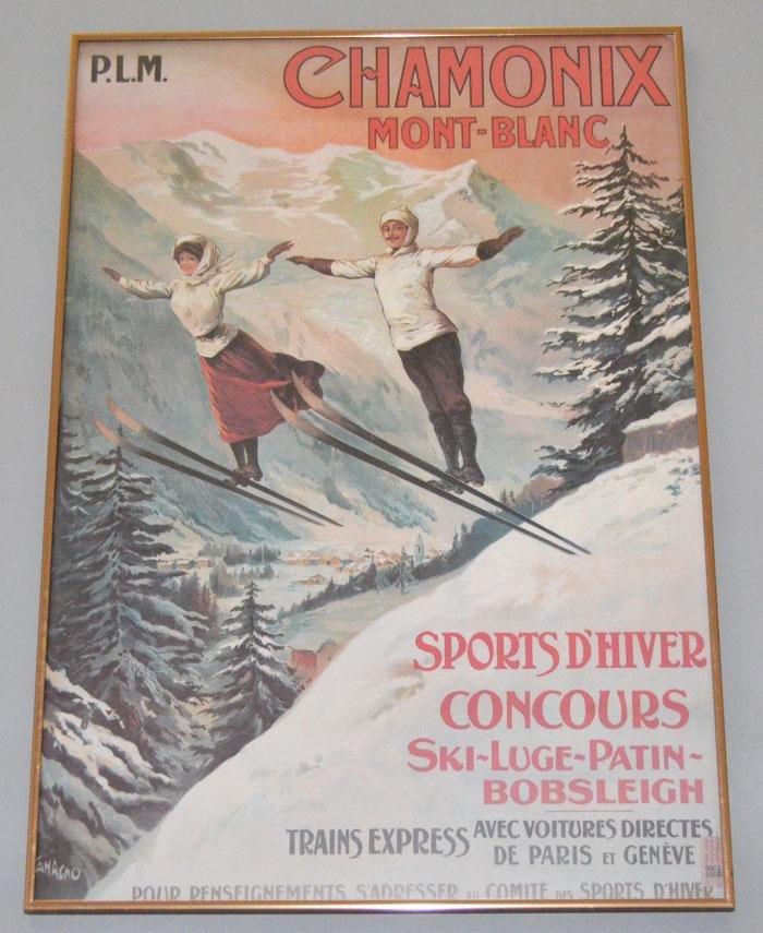 Chamonix Mont Blanc Ski Poster