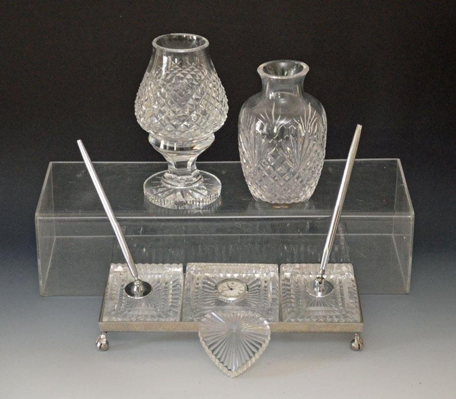 Group of 4 Waterford Crystal Decorative Pieces