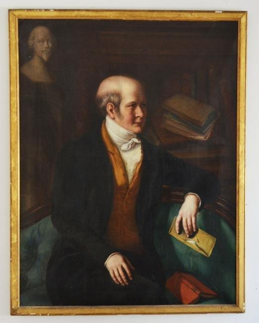 O/C Portrait Painting of Gentleman Signed Jacob