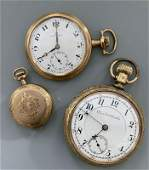 3 Gold Filled Pocket Watches