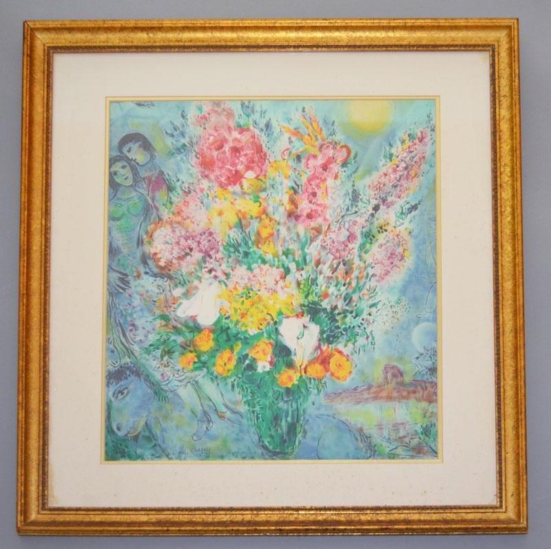 Chagall Bouquet Pres de la Fenetre Chagall Print