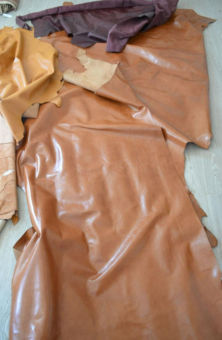 Edelman Cowhide Full Leather Brown and Aubergine