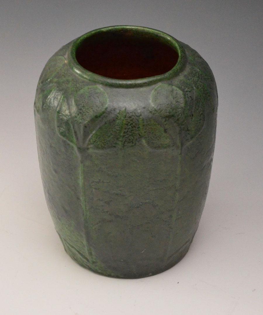 Matte Green Merrimac Art Nouveau Pottery Vase