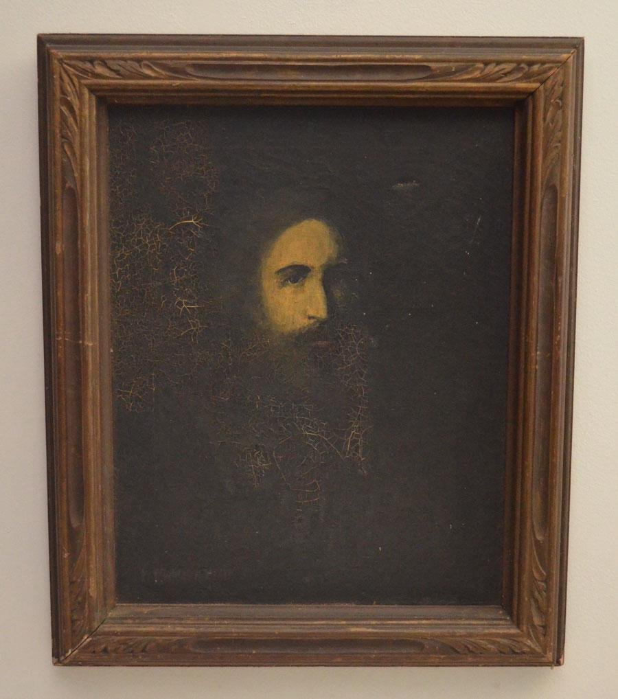 Illegibly Signed & Dated O/C Painting of a Man