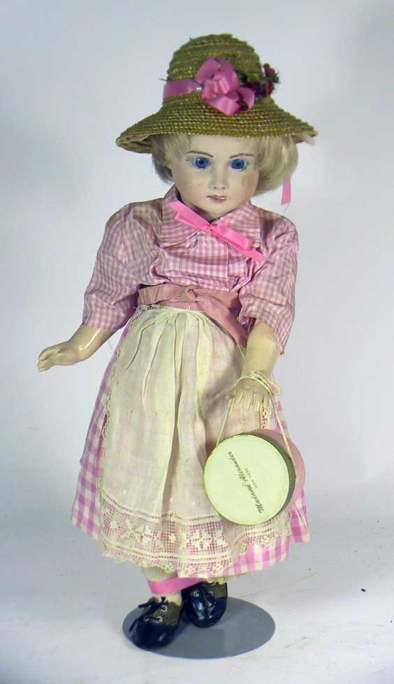 3: Hand Made Vintage bisque Doll  On A Seeley Body