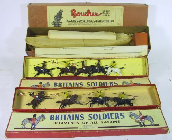 4: Nice Lot of Britains Soldiers and Boucher.