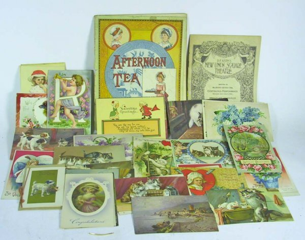 5: Approx 37  Vintage  Postcards  / Ephemera