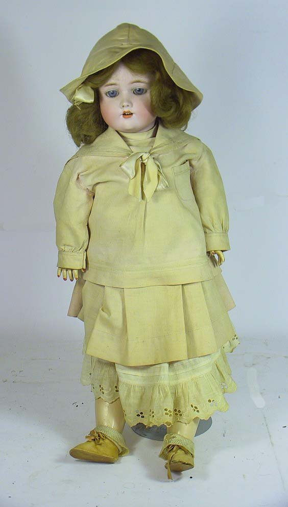 "8: Antique C M Bergmann Halbig  22"" Doll"