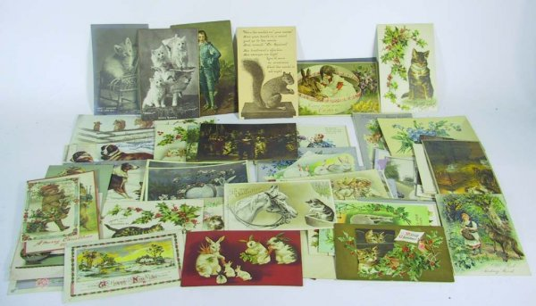 23: Approx 64 Vintage Postcards and Ephemera