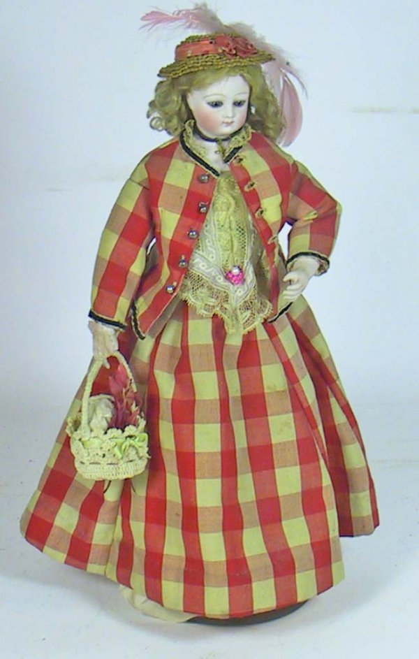 34: Antique French Fashion Doll ( Kid Over Wood Body