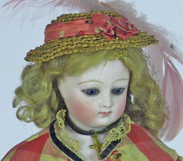 34: Antique French Fashion Doll ( Kid Over Wood Body - 2
