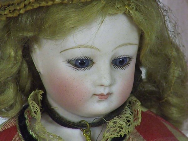 34: Antique French Fashion Doll ( Kid Over Wood Body - 3