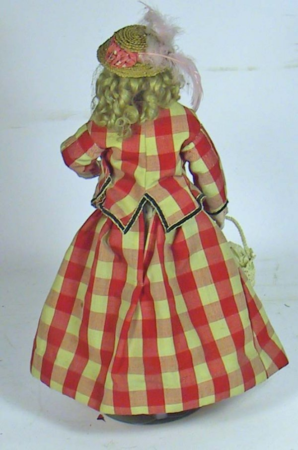 34: Antique French Fashion Doll ( Kid Over Wood Body - 7