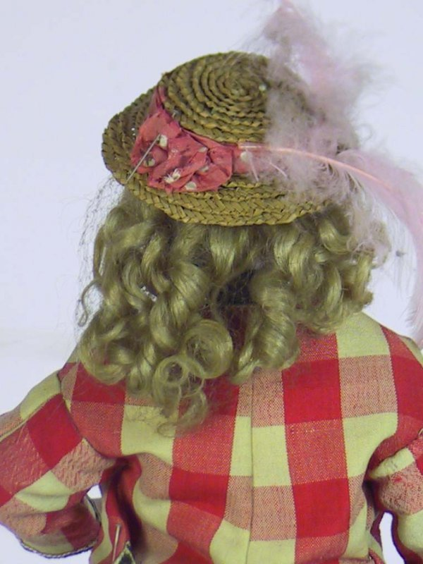34: Antique French Fashion Doll ( Kid Over Wood Body - 8