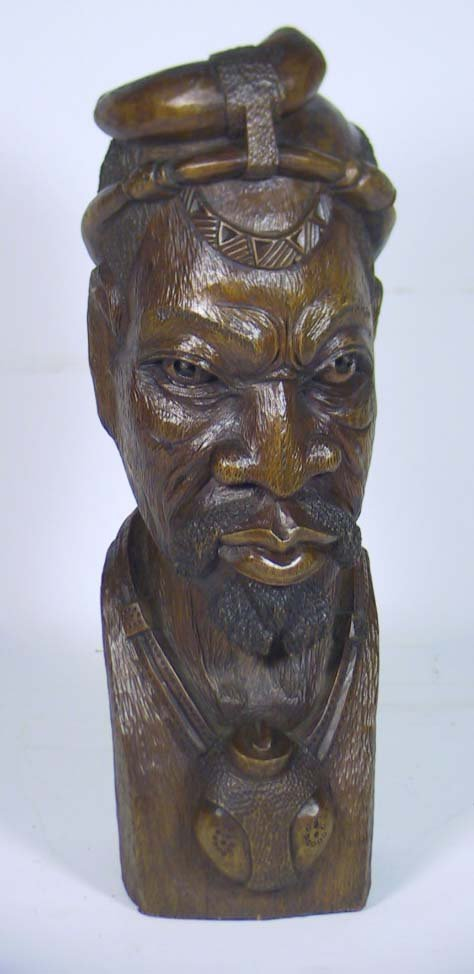 203: Incredible African Carving Signed Mike _____ # 126