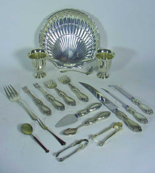 204: 18 Pcs. Of  Vintage Sterling Silver  Accessories