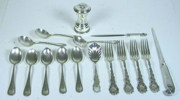 211: 16 Pcs. Of Sterling Accessories Including Jensen