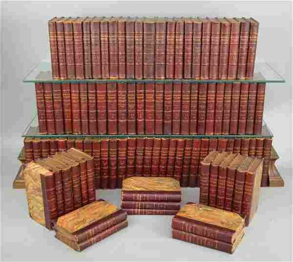1830s Scott's Works 98 Leather Bound Books