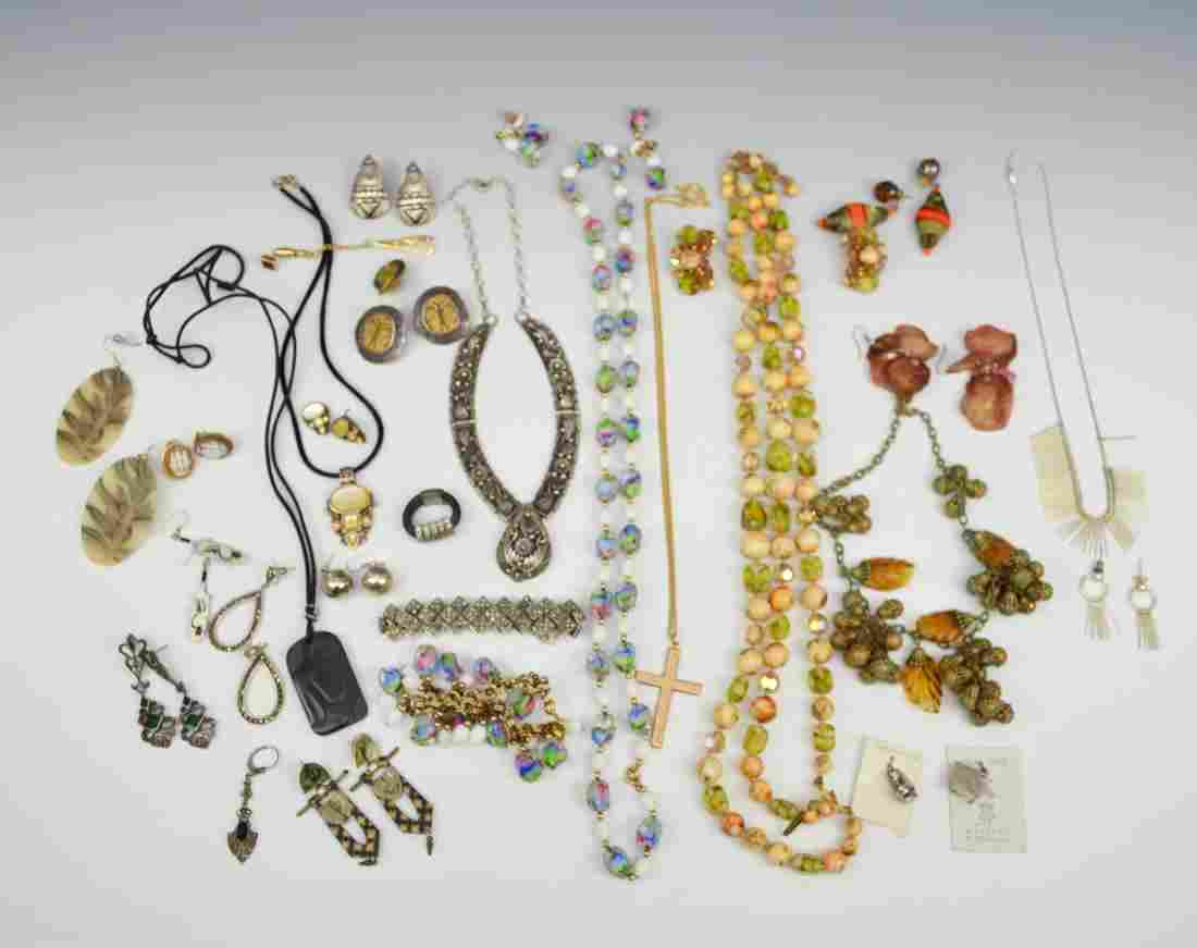 Lot Of Costume & Sterling Silver Jewelry