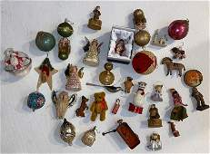 Large Lot Of Christmas Ornaments  Accessories