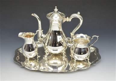Handsome Gorham sterling silver tea set