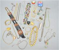 Lot of Costume Jewelry w Enamel & Porcelain Boxes